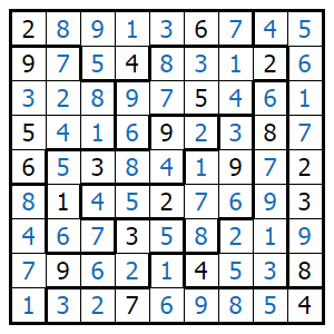 photograph regarding Jigsaw Sudoku Printable known as Print - Jigsaw Sudoku